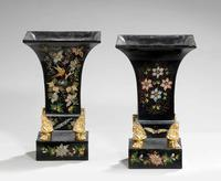 Pair of Mid 19th Century Tole Vases (3 of 6)