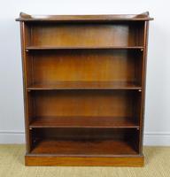 Neat 19th Century Mahogany Bookcase Cabinet (6 of 8)