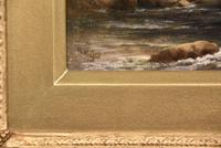 """Oil Painting by  William Ward Gill """"A North Wales Bridge"""" (4 of 5)"""