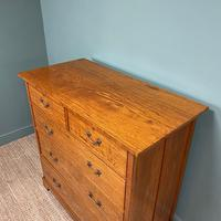 Striking Victorian Satinwood Antique Chest of Drawers (2 of 7)