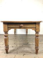 Victorian Antique Pine Farmhouse Kitchen Table (7 of 15)