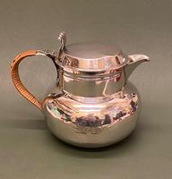 Elegant Lidded Silver Hot Water Jug by The Goldsmiths & Silversmiths Alliance