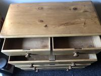 Stripped Pine Chest of Five Drawers (6 of 9)