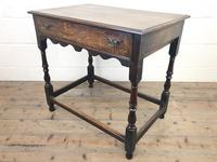 18th Century Oak Side Table with Drawer (2 of 9)