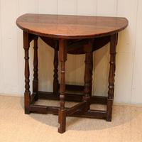 Small Oak Drop Leaf Table c.1920 (4 of 8)