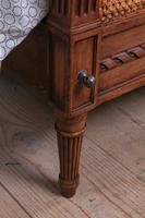 Fabulous Pair of Single Henri II Style Cane & Wood Single Beds (4 of 11)