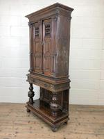 19th Century Oak Cupboard on Stand (9 of 10)