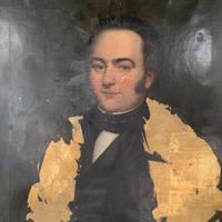 Antique large Georgian oil painting portrait of a gentleman Stanley Jones of Broadgate, Ludlow (7 of 13)