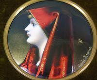 Enamelled Miniature Portrait Saint Fabiola after Jean Jacques Henner (2 of 6)