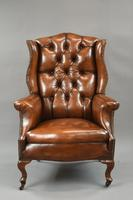Stunning 19th Century Leather Wing Chair (3 of 6)