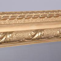 Victorian Carved Giltwood Rectangular Wall Mirror (4 of 6)