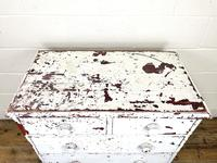 Small Distressed White Painted Victorian Chest of Drawers (6 of 10)