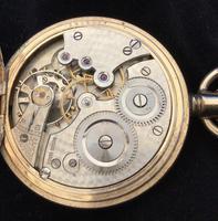 Watch Pocket Half Hunter Gold Plated (5 of 6)