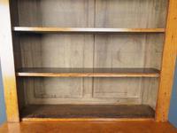 Antique Victorian Golden Oak Open Bookcase (10 of 20)
