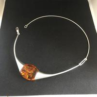 Lapponia Sterling Silver & Amber Necklace (4 of 4)