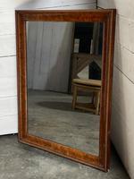 19th Century French Burr Walnut Wall Mirror (15 of 19)