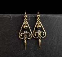 Antique Victorian Diamond Drop Earrings, 15ct Gold (8 of 10)
