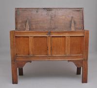 Early 18th Century Tall Oak Coffer (3 of 9)