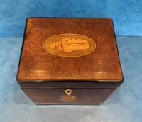 18th Century Harewood Inlaid Single Mahogany Tea Caddy (8 of 18)