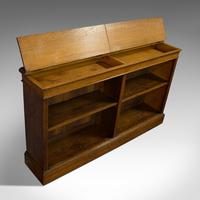 Large Antique Library Bookcase, Scottish, Oak, Bookshelf, Cabinet, Victorian (12 of 12)