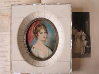 Hand Painted Miniature Portrait Princess Louise of Prussia (4 of 4)
