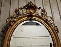 A Very Large French Rococo Oval Gilt Wall Mirror (6 of 10)