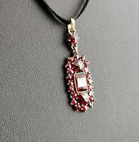 Antique Art Nouveau Bohemian Garnet Pendant (3 of 12)