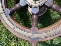 Oak & Brass Ships Wheel (6 of 11)