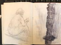 Original Sketchbook of Pencil Drawings, Pen Drawings and Watercolours by Helmut Petzsch - 1987-1989 (15 of 19)
