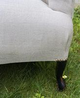 French Two Seater Sofa in Linen (4 of 8)