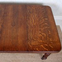 Oak Dining Table 6 Seater Victorian Wild Golden Oak 19th Century Solid (16 of 16)