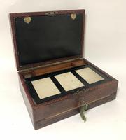 Antique Victorian Leather Writing Document Box (11 of 19)