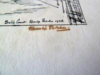 Hanslip Fletcher Original Pen & Ink Drawing & another Lithograph- London Scene 1928 (6 of 9)