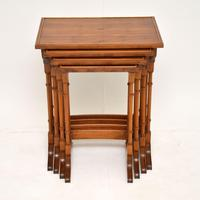 Antique Yew Wood Nest of 4 Tables (9 of 9)