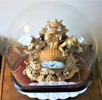 Lovely 1860's French Spelter Striking Figurine Mantel Clock by Japy Frères (4 of 7)
