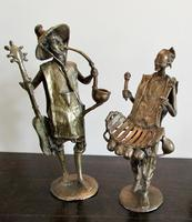 Collection of Four Large  African Bronze Musicians (3 of 5)