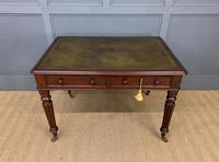 Victorian Mahogany 2 Drawer Reeded Leg Writing Table (6 of 15)