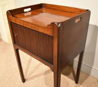 George III Tambour Fronted Bedside Table / Commode (6 of 7)
