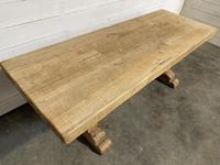 Rustic Bleached Oak Farmhouse Refectory  Table (19 of 21)