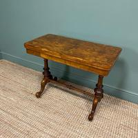 Quality Figured Walnut Victorian Antique Card Table / Games Table (6 of 9)