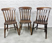 Matched Set of 6 Windsor Kitchen Chairs c.1890 (6 of 7)