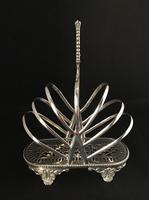 Aesthetic Period Silver Plated Fan Shape Toast Rack (3 of 5)