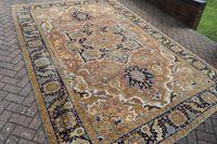 Antique Heriz roomsize carpet 338x241cm (4 of 6)