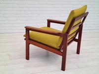 "Danish Design by Illum Wikkelsø Armchair ""Capella"" Series, 70s, Teak, Renovated-reupholstered (4 of 13)"