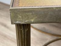 French Brass Square Leather Top Coffee Table (18 of 28)