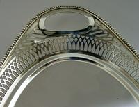 Superb Dutch Solid Silver Salver Drinks Bar Tray 1915 Antique (4 of 10)
