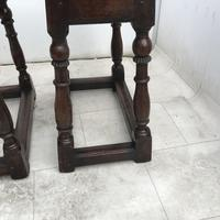 Pair of Oak Coffin Stools Circa Late 17th Century (18 of 24)