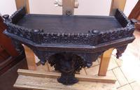 Burmese Carved Wall Bracket Hardwood 1860 (free Shipping to Mainland England) (5 of 12)