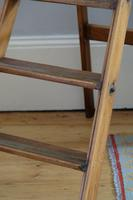 Antique Pine Library Step Ladder with Brass Step Inlays by Pioneer (7 of 14)