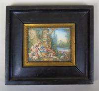 Beautiful Miniature Painting after Boucher by the Lake (2 of 6)